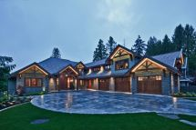Wood and Stone Craftsman House Plan Photos