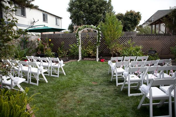 small backyard wedding  Wedding Ideas  Pinterest