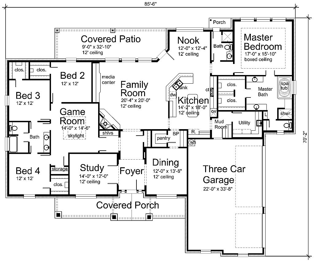 My Realistic Dream House Plan!! I Love The Kids Bedrooms All On