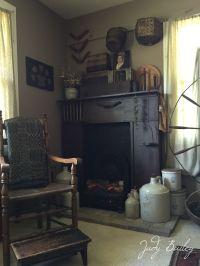 Primitive fireplace | My Primitive home photos | Pinterest ...