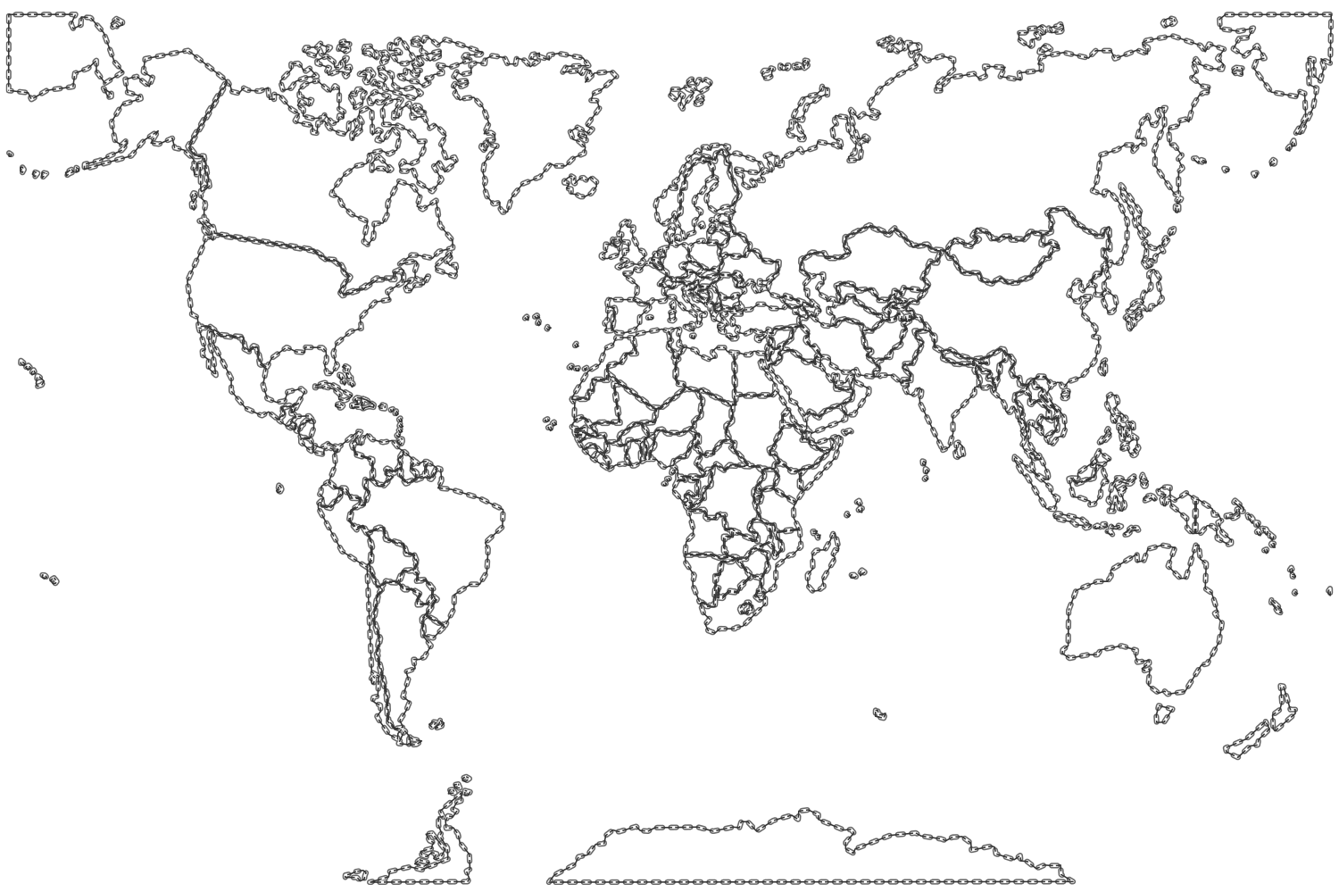 Map Of The World Without Countries Labeled