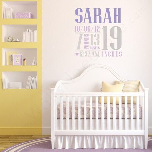 Baby weight and size nursery wall decals collage also kids room deco rh pinterest