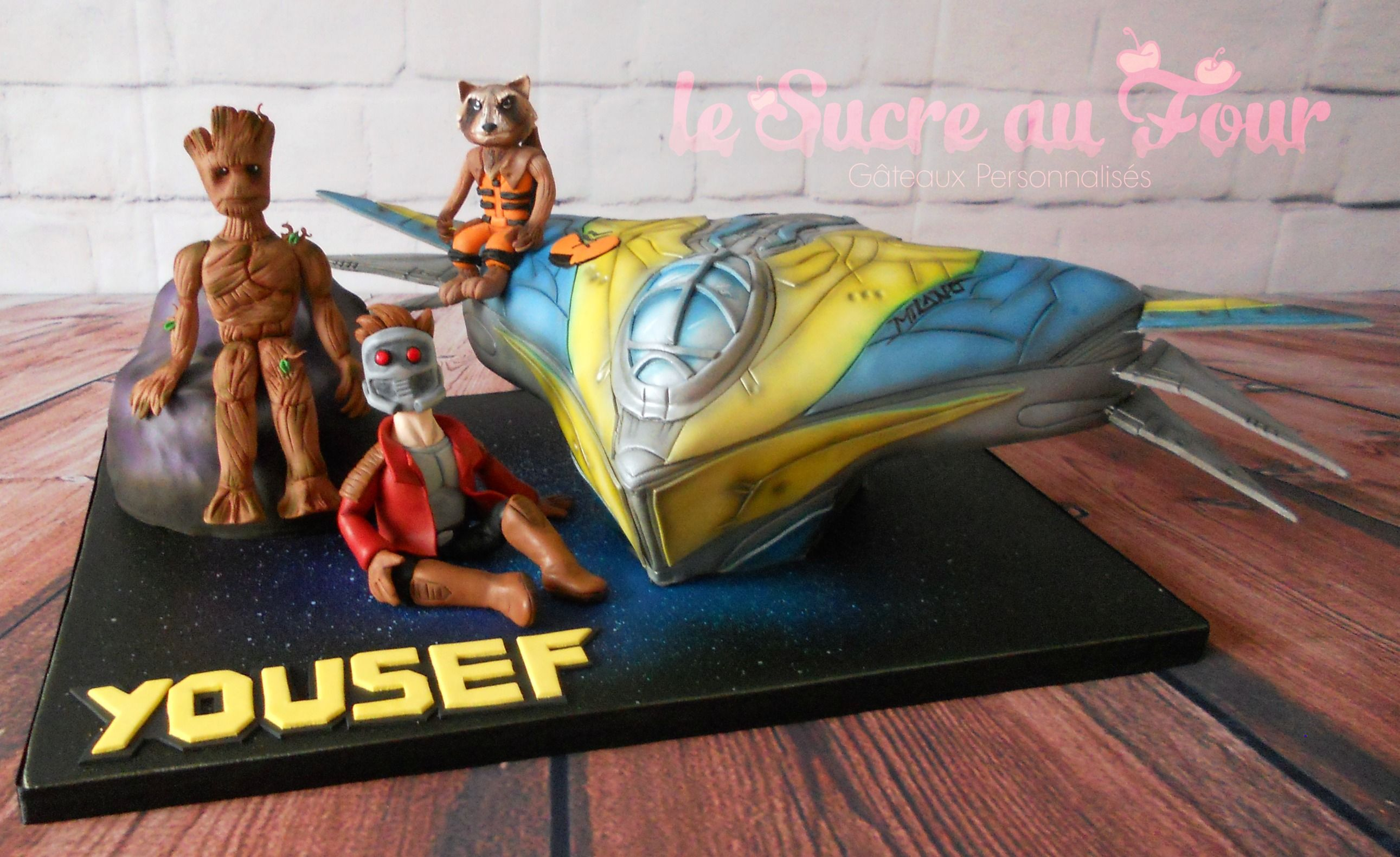 Guardians Of The Galaxy Cake Hand Made Figurine And Space