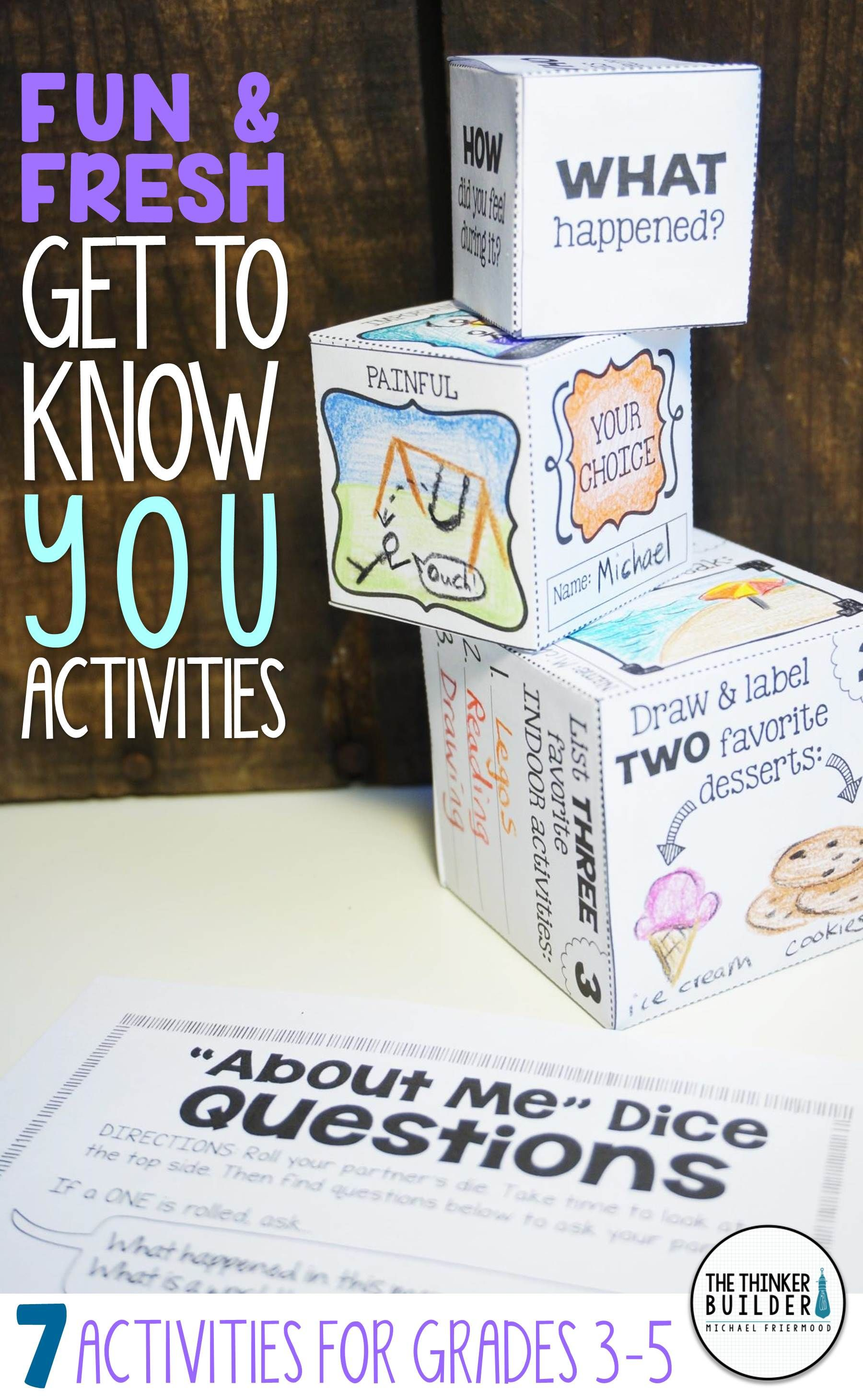 Back To School Activities Get To Know You Pack 2