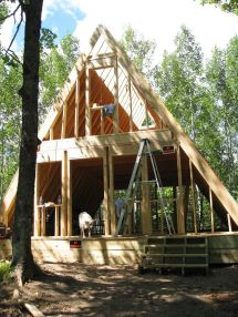 Frame Cabin .dom House And