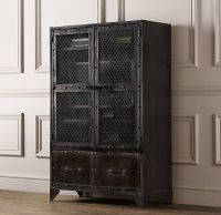 Vintage Industrial Steel Cabinet | Bookcases & Storage ...