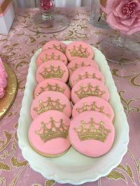 Pink and Gold Baby Shower Baby Shower Party Ideas | Gold ...