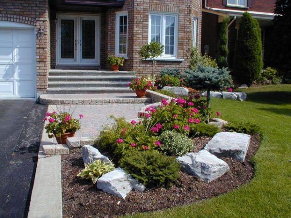 cheap flower beds ideas front