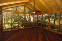Screened Porch w/ T cathedral ceiling | dream house ...