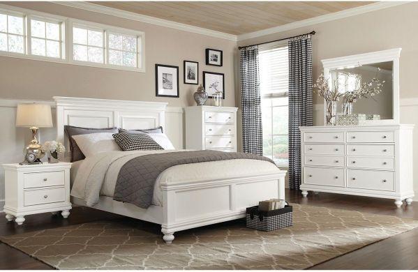 white king bedroom furniture sets Bridgeport 6-Piece Queen Bedroom Set – White   Queen