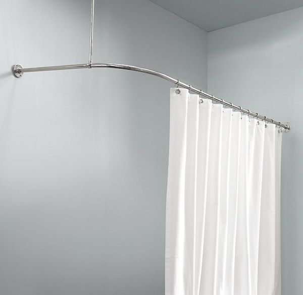 corner shower curtain rod ikea  bathrooms  Pinterest
