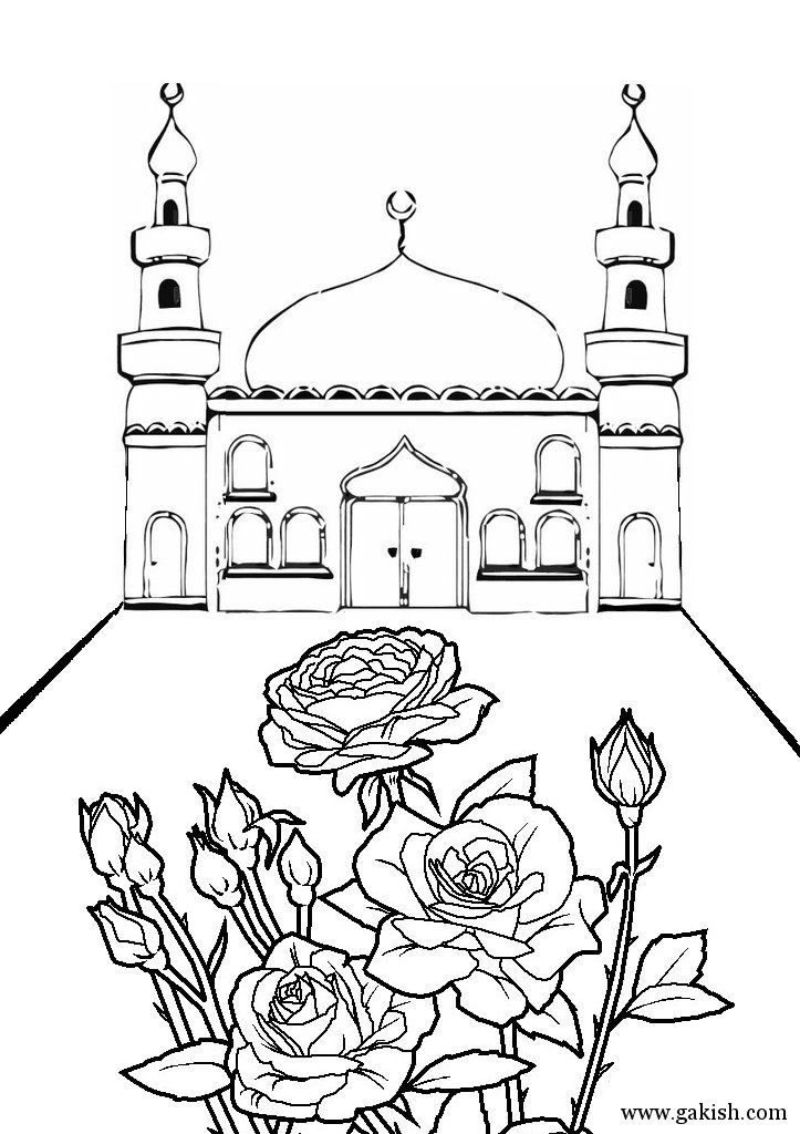 This page has a bunch of printable mosques and a few work