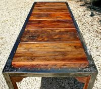 Angle Iron Dinning table 2 | One-off Furniture Artwork ...