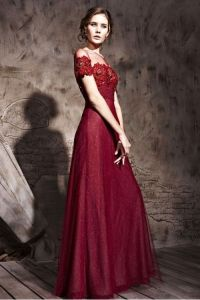 Exotic Couture Maroon Bridesmaid Dress With Blooming ...