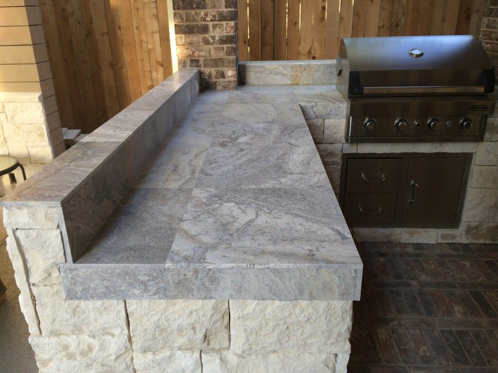 Silver travertine tile can be a unique, stylish countertop