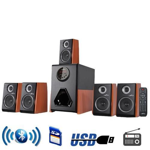 Befree sound luxury home and office channel surround bluetooth speaker system with speakers usb input fm radio wood finish accents also rh pinterest