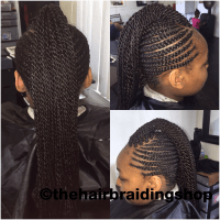 Kids cornrows with Mohawk African hair braiding Cornrows ...