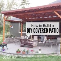 How to Build a DIY Covered Patio | Backyard, Patios and Woods