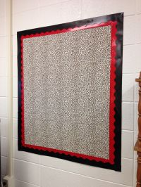Created a brand new bulletin board on a bare wall with ...