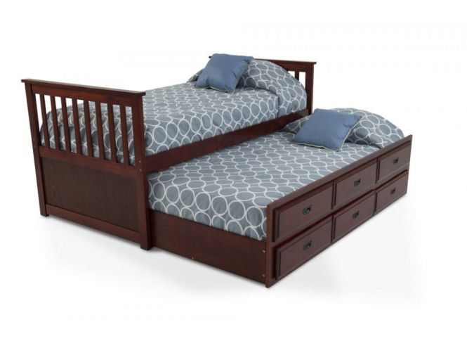 Chadwick Twin Captain Bed With Trundle Kids Beds Headboards Furniture Bob S