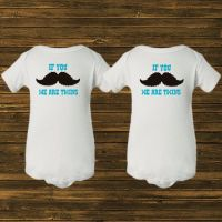 Funny Onesies or Shirts for Twin Boys. Mustache We are ...