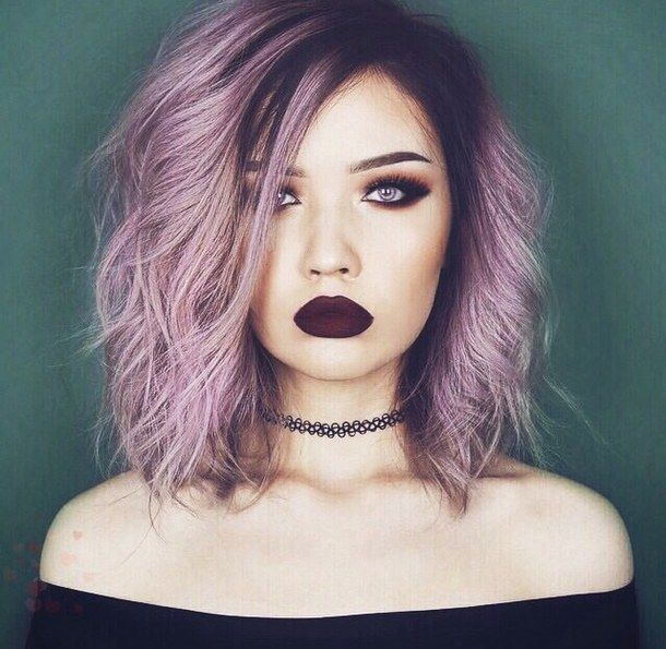 Choker Dark Makeup Grunge Hair Hairstyle Ombre Ombre Hair