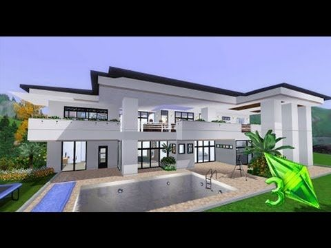 The Sims 3 House Designs Modern Elegance YouTube Sims 3