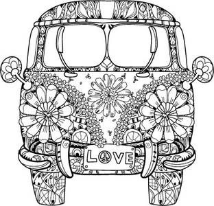 Love It Zentangle Bulli VW T1 Mindful Mandalas