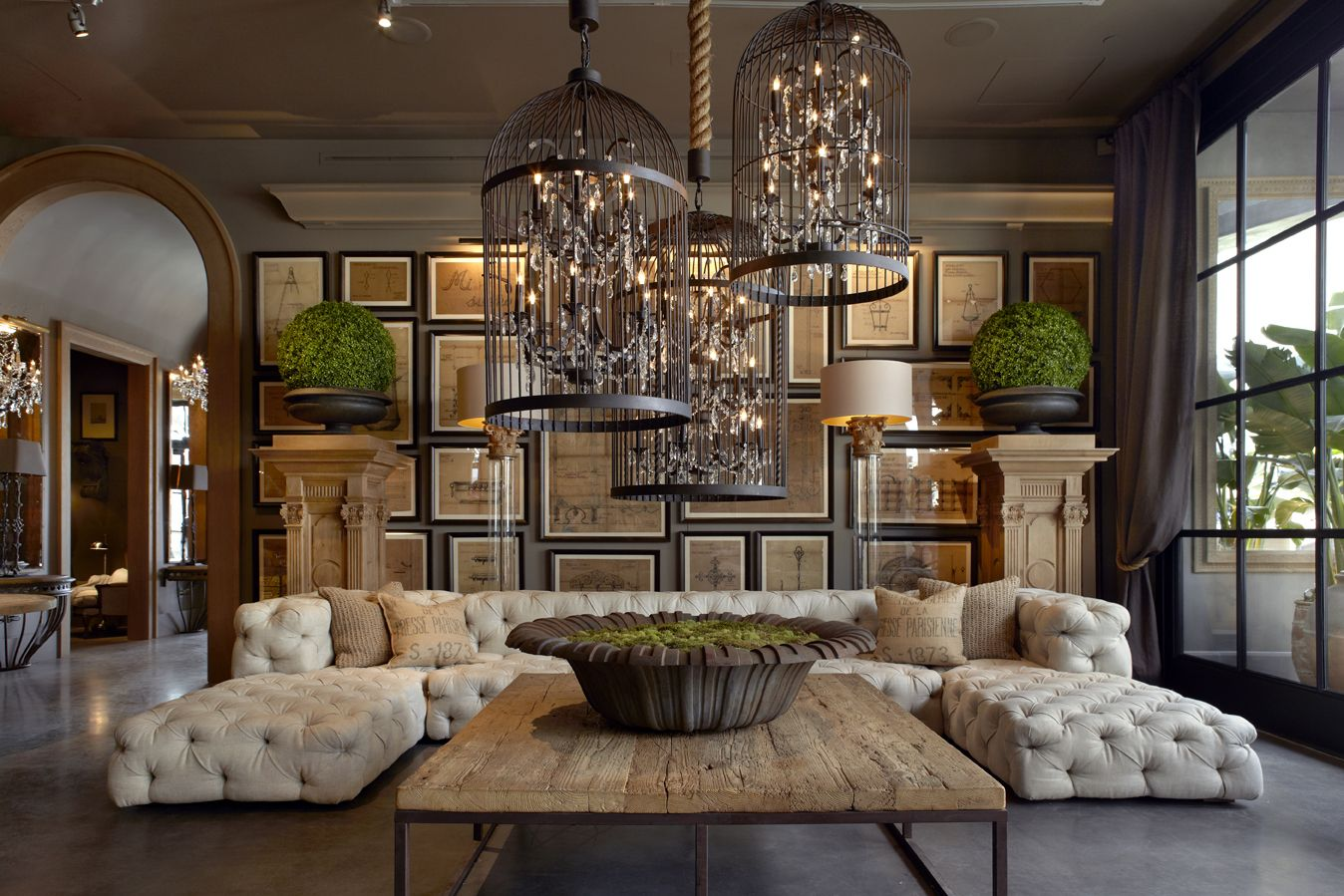 Image result for what decorating style is restoration hardware  Future Living Rooms  Pinterest