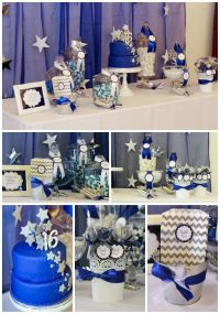 Sweet 16 party dessert table | 16th Birthday Ideas ...