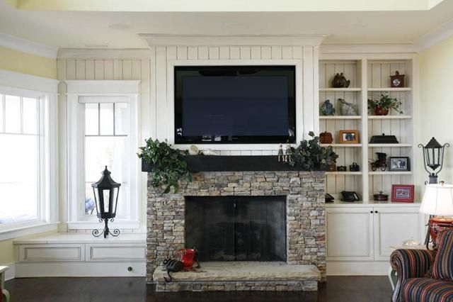 Wall mounted fireplace with tv above over ideas also beadboard and google search fireplaces rh pinterest