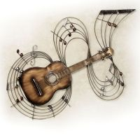 Within the Music Guitar Metal Wall Art | Metal wall art ...