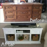 Dresser to Entertainment center. Before and after. | For ...