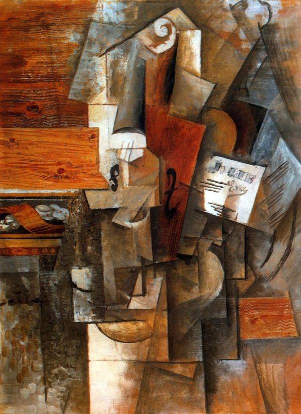 Picasso Violin Jolie Eva 1912 Incredible Art