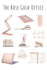 Rose gold desk accessories - rose gold scissors, rose gold ...