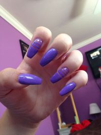 Purple coffin nails | Nails | Pinterest | Coffin nails ...