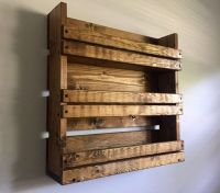 Spice rack, Rustic spice rack with 3 shelves, Kitchen ...
