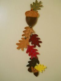 Homemade Thanksgiving Decorations | Felt wall hanging ...