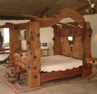 canopy bed plans | Log Home Living Article: Live Edge ...