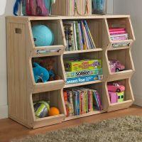 Merry Products SLF0031901910 Children's Bookshelf Cubby ...