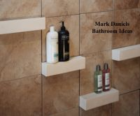 Bathroom Remodeling Design Ideas Tile Shower shelves ...