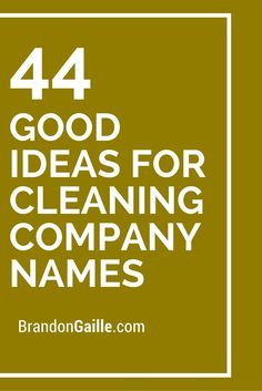 Creative House Cleaning Names House Style Pinterest Cleaning