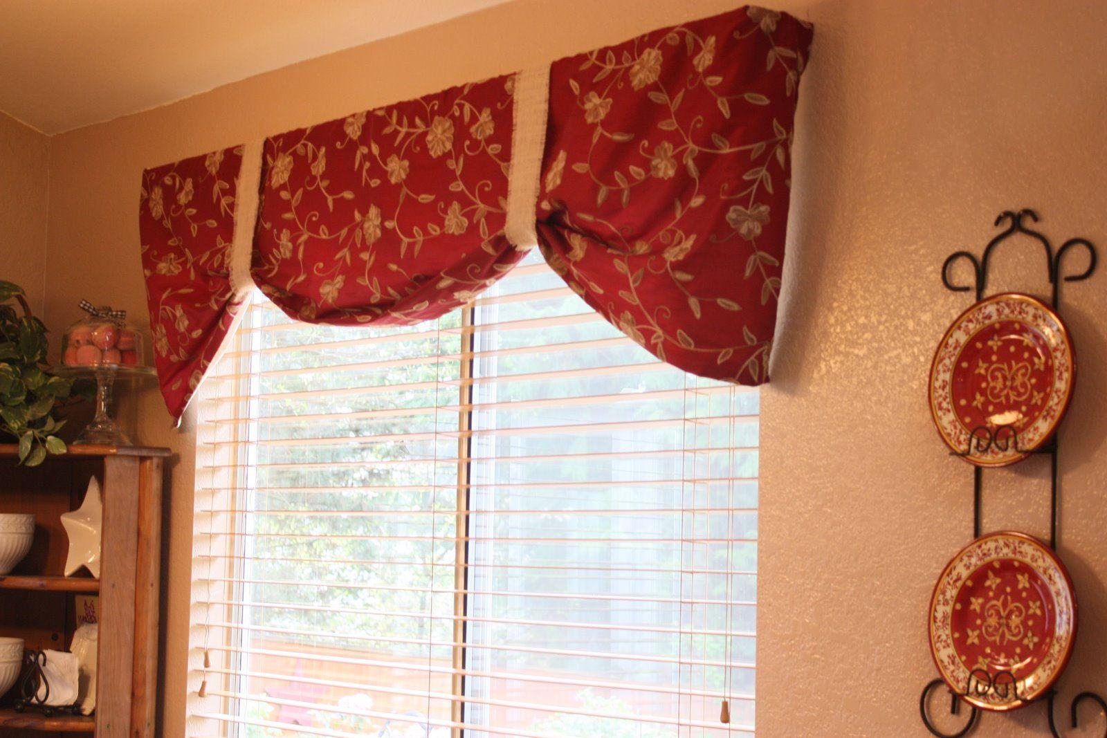 title   Red Kitchen Window Curtains