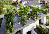Stepped garden tops house by Vo Trong Nghia and Masaaki ...
