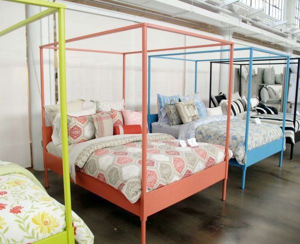 Ikea' Edland Bed Fram Painted In Rainbow Of Hues