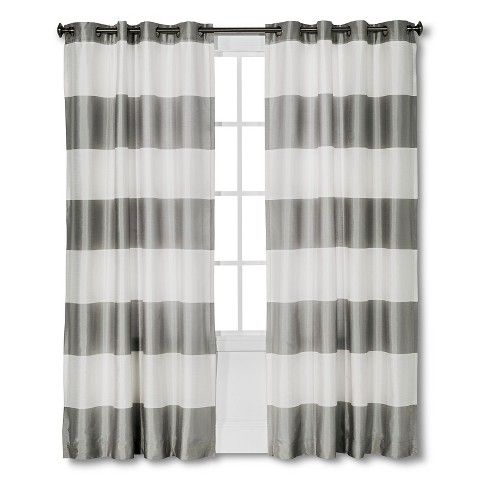 Gray Striped Curtains From Target For The Playroom? Home Sweet