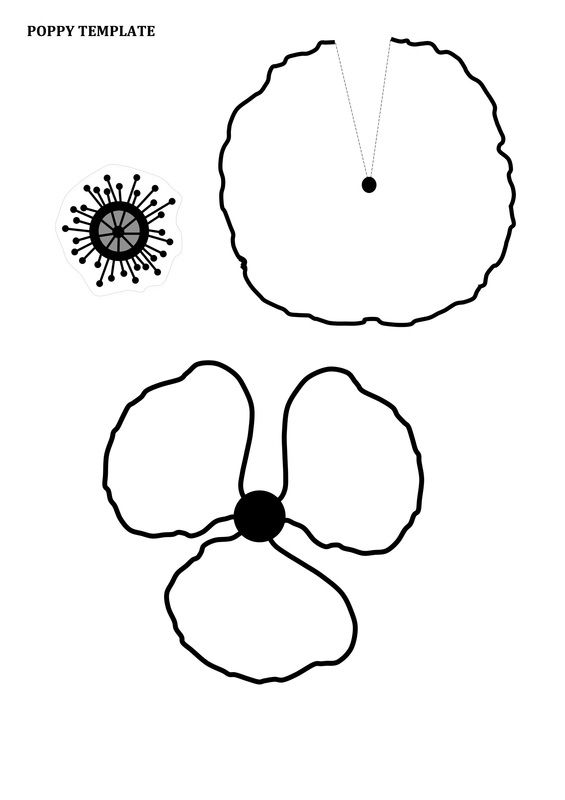 Remembrance day poppy craft for kids with free printable