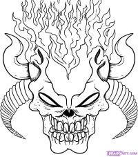 Scary Coloring Pages For Adults | Skulls coloring pages ...