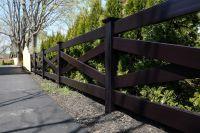 Fence - illusions black pvc vinyl crossbuck post and rail ...