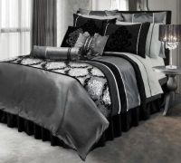 black silver and white room decor